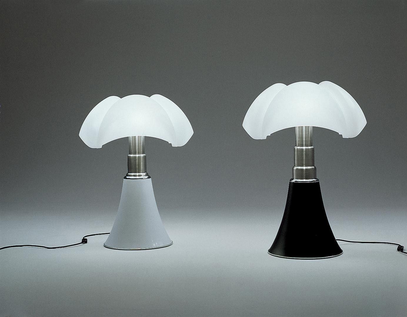 Lampe de table Minipipistrello LED / H 35 cm Marron foncé / Abat ...