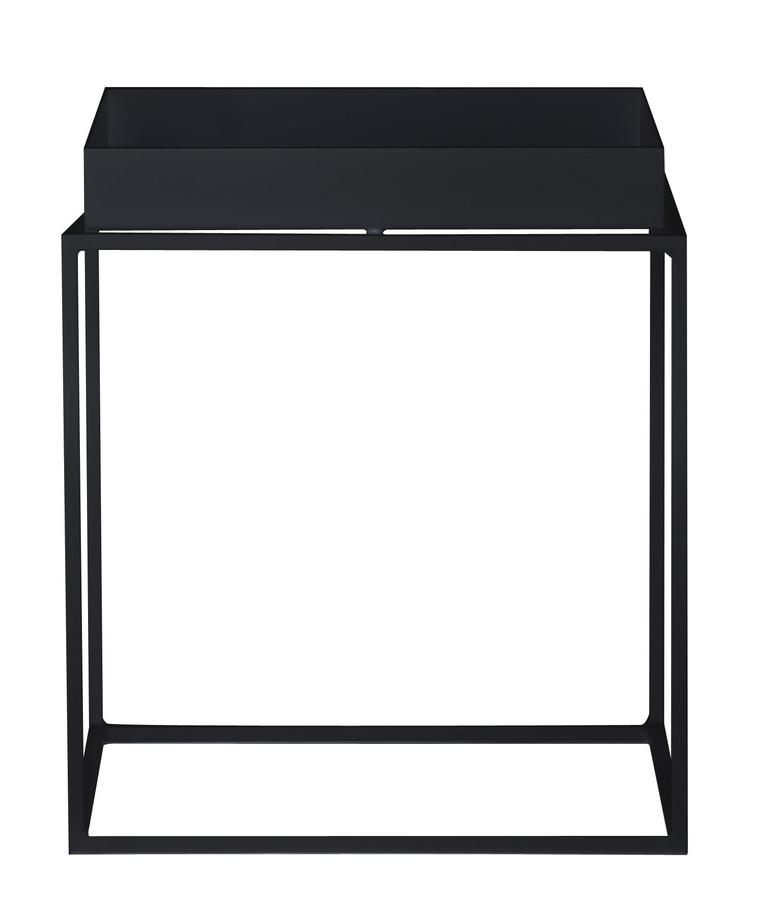 tray coffee table square h 40 cm 40 x 40 cm black by hay