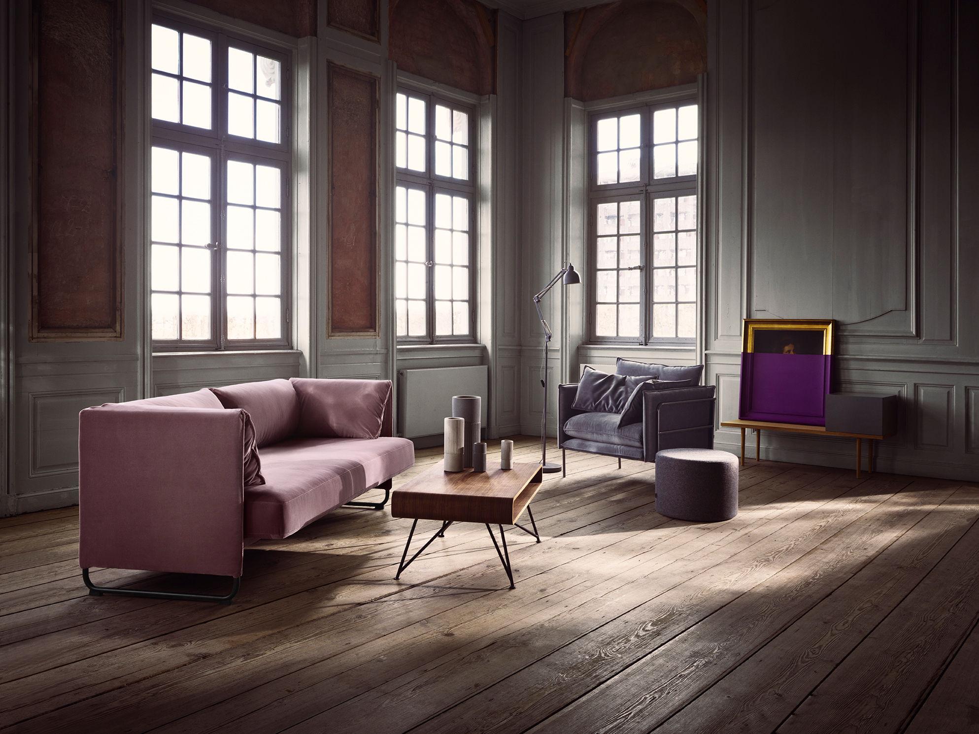 canap droit mara 2 places l 230 cm assise extensible bleu p trole pi tement noir bolia. Black Bedroom Furniture Sets. Home Design Ideas