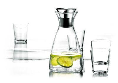 Arts de la table - Carafes et décanteurs - Carafe Stoppe-goutte / Set carafe + 4 verres - Eva Solo - Transparent - Acier inoxydable, Silicone, Verre
