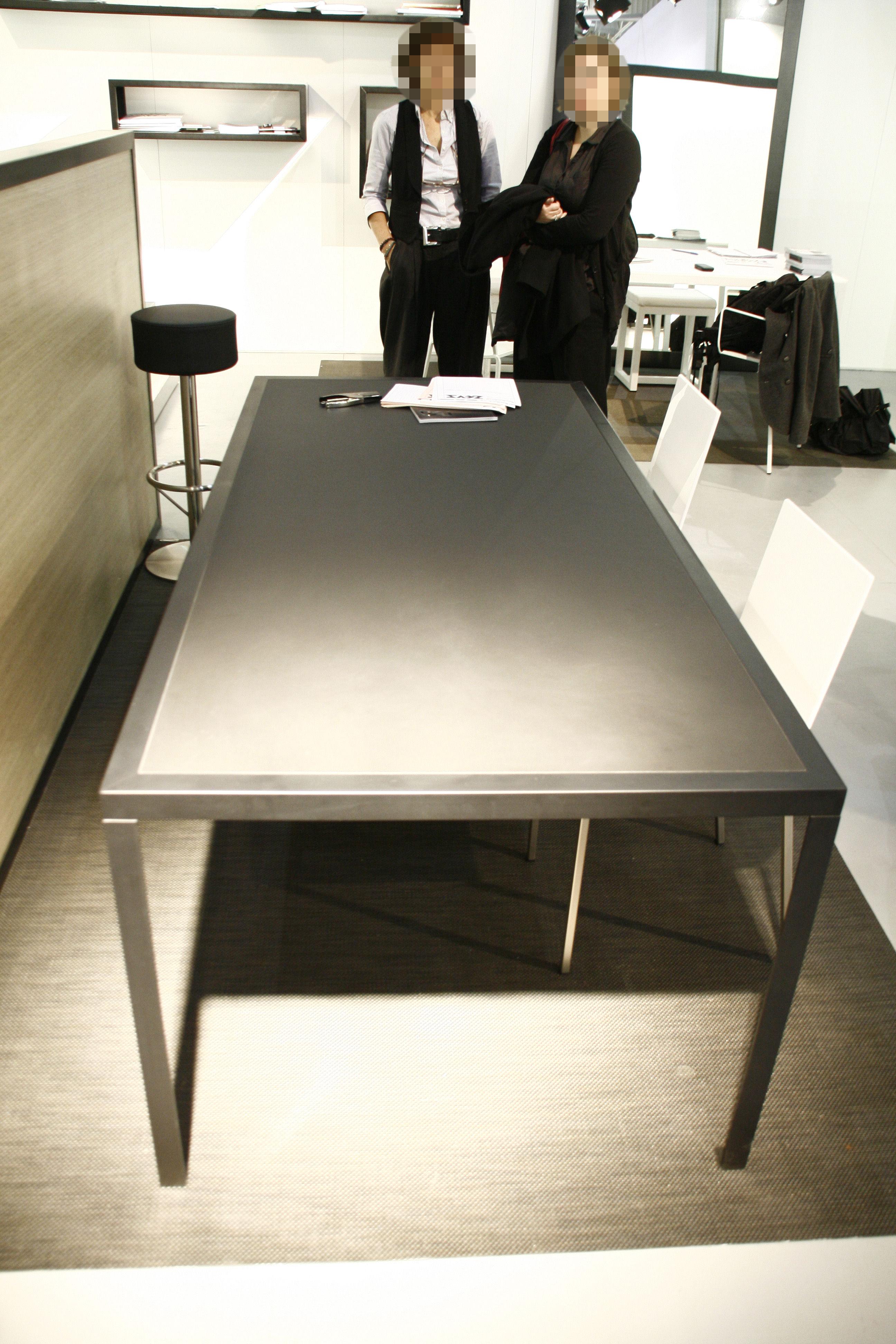 Table tavolo 180 x 90 cm plateau linoleum noir zeus for Plateau table 180