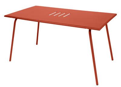 Monceau Tisch / 146 x 80 cm - für 6 Personen - Fermob - Paprika