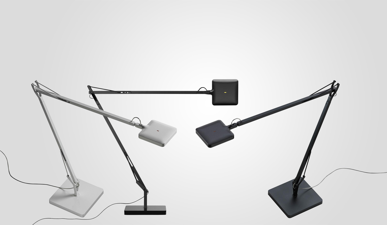 lampe de table kelvin led noir flos. Black Bedroom Furniture Sets. Home Design Ideas