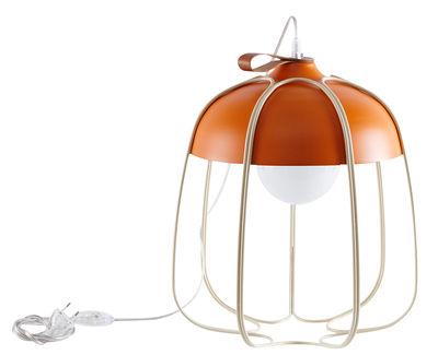 Lampe de table Tull / Ø 36 x H 40 cm - Incipit Orange,Beige en Métal