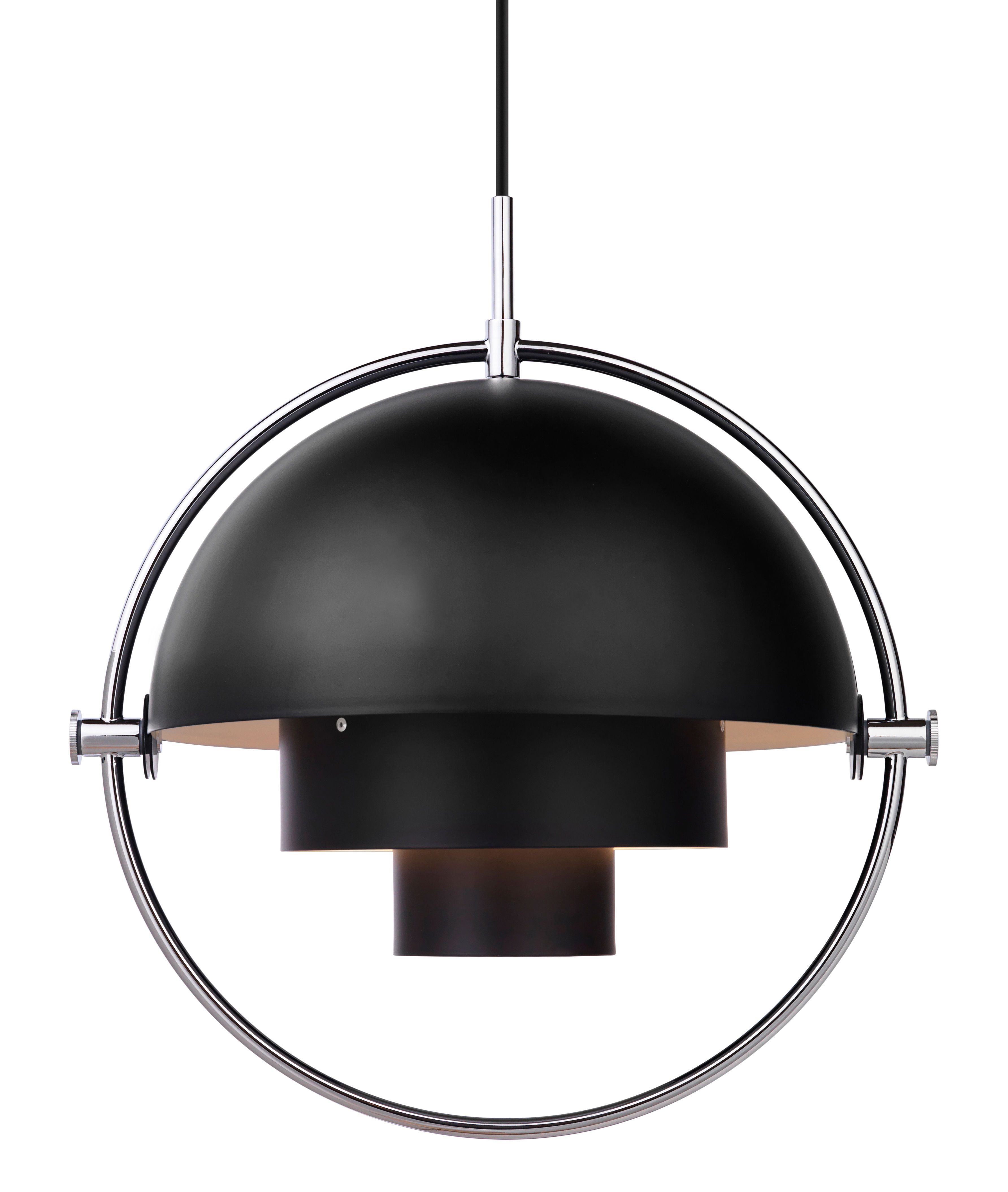 multi lite pendant adjustable reissue 1972 black chromed by gubi. Black Bedroom Furniture Sets. Home Design Ideas