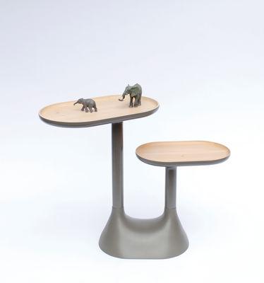 Table basse baobab 2 plateaux pivotants gris moustache - Table basse plateaux pivotants ...