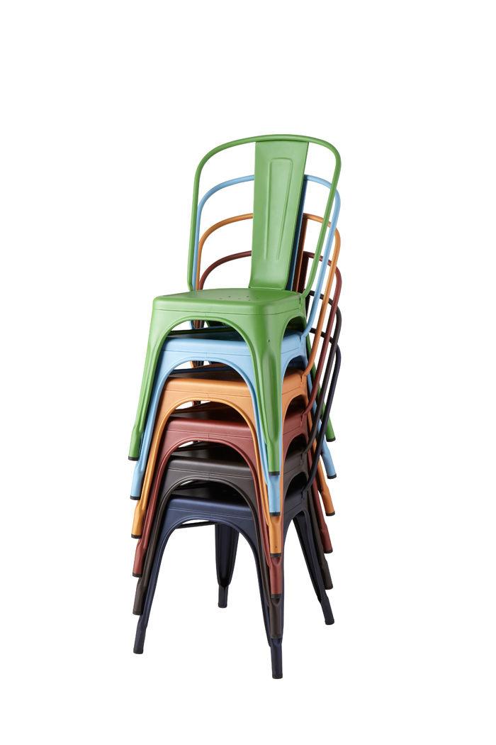 chaise empilable a acier couleur mate bleu pastel mat tolix. Black Bedroom Furniture Sets. Home Design Ideas