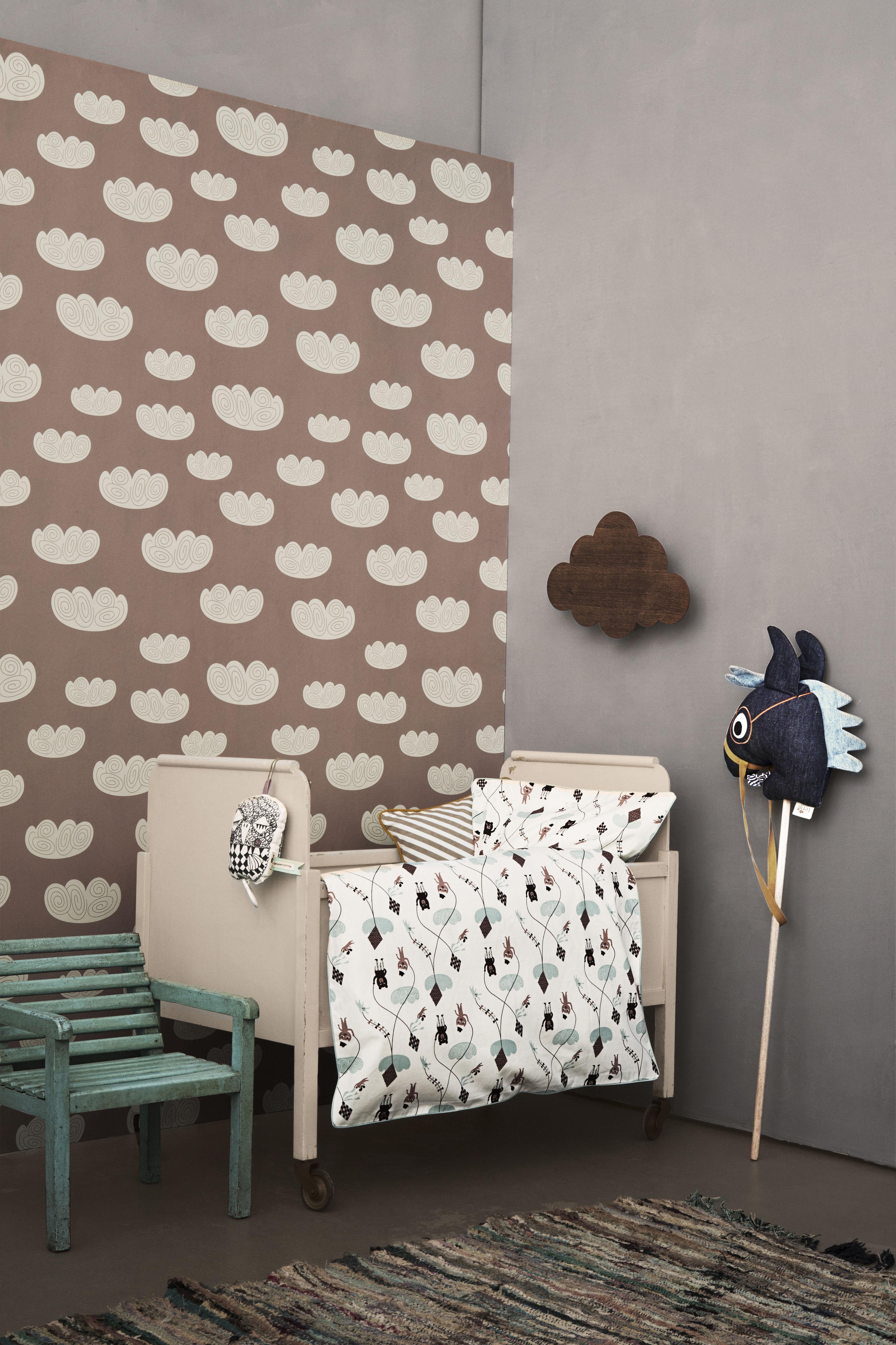 cloud 1 bahn b 53 cm ferm living tapete. Black Bedroom Furniture Sets. Home Design Ideas