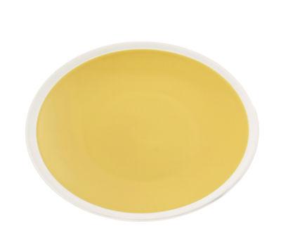 Arts de la table - Assiettes - Assiette creuse Sicilia / Ø 24 cm - Maison Sarah Lavoine - Tournesol / Blanc - Grès peint et émaillé