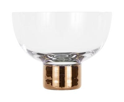 Bol Tank Ice Cream / Set 2 bols - Ø 12 x H 9 cm - Tom Dixon cuivre,transparent en verre