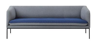 Turn Sofa / L 200 cm - 3-Sitzer - Ferm Living - Hellgrau,Nachtblau