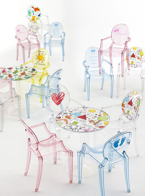 Lou Lou Ghost Children armchair - / Patterns Rose / Princess by Kartell