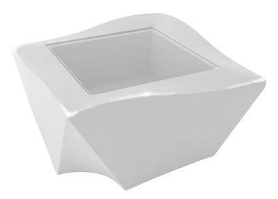 Tavolino Kami Ni - versione laccata di Slide - Laccato bianco - Vetro