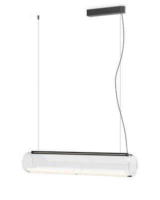 Guise Pendelleuchte / horizontaler Diffusor - LED - Vibia - Laqué graphite mat