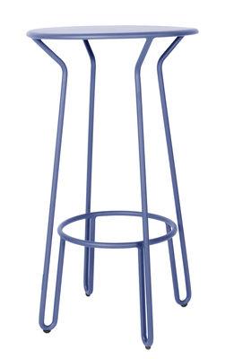 Mobilier - Mange-debout et bars - Mange-debout Huggy / Ø 60 x H 105 cm - Aluminium - Maiori - Bleu aube - Aluminium laqué époxy