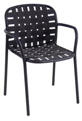 Yard Stapelbarer Sessel / Sitzfläche aus elastischen Gurten - Emu - Schwarz
