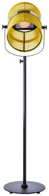 Luminaire - Lampadaires - Lampadaire solaire La Lampe Paris LED / Sans fil - Maiori - Citron / Pied noir - Aluminium peint, Tissu