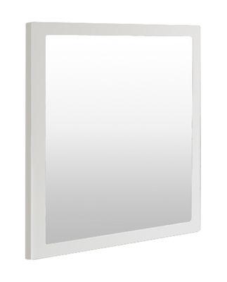 Mobilier - Miroirs - Miroir mural Little Frame / 60 x 60 cm - Zeus - Blanc demi-opaque - Tôle d'acier naturelle