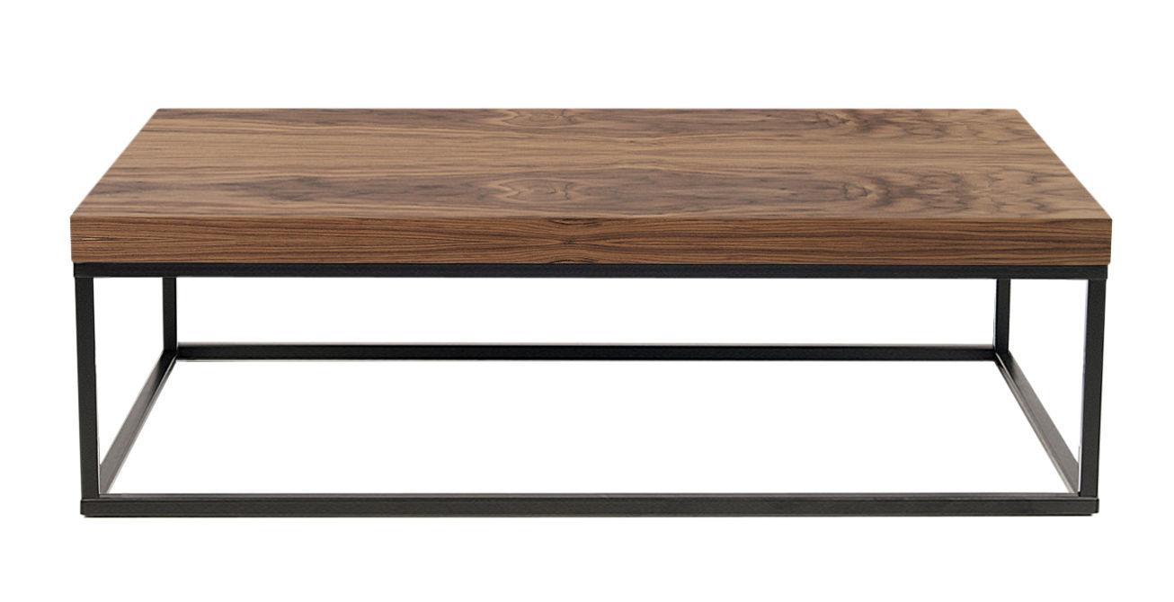 Wallnut coffee table walnut walnut black leg by pop for Pop up coffee table