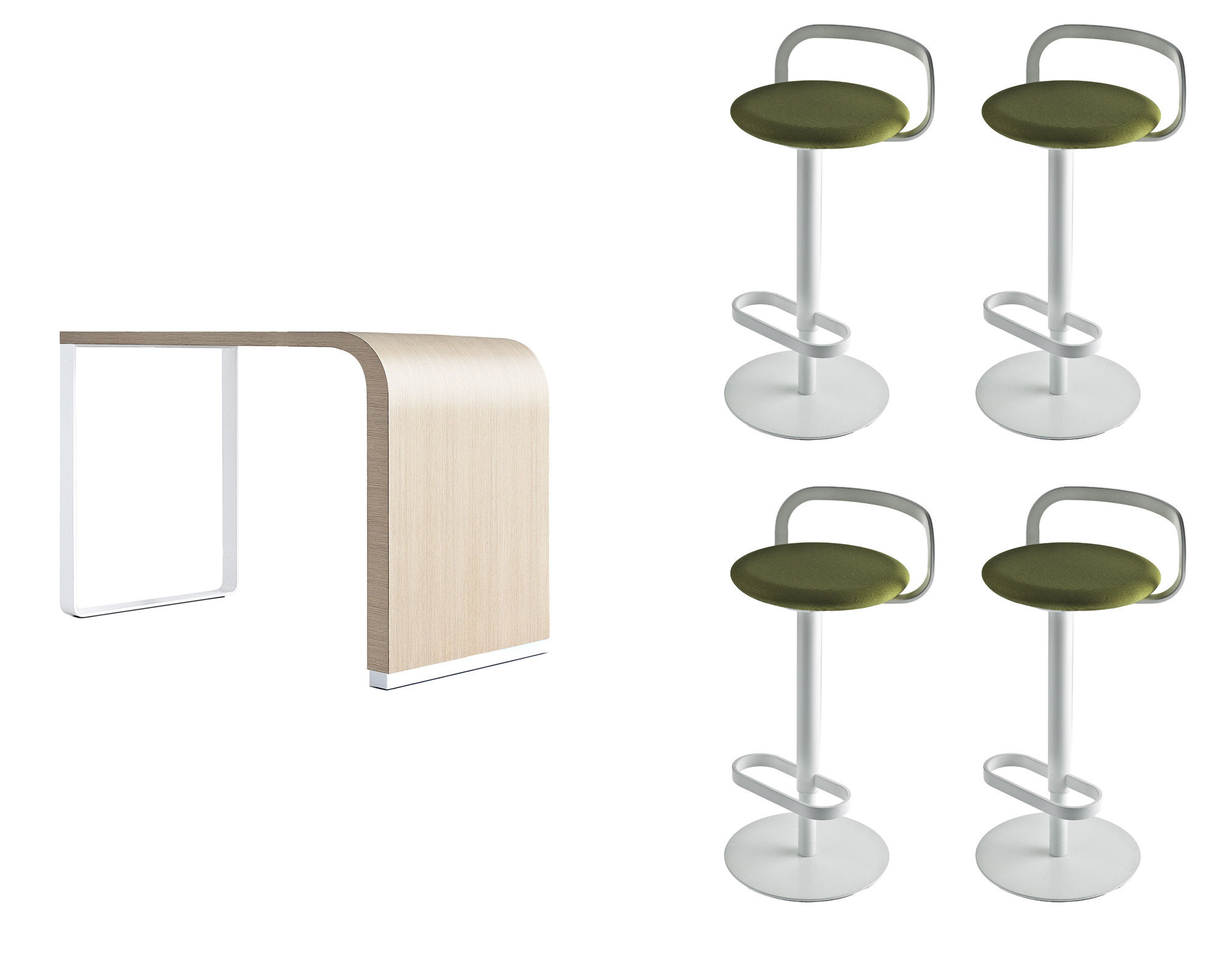 table haute brunch h 90 cm 4 tabourets hauts mak set