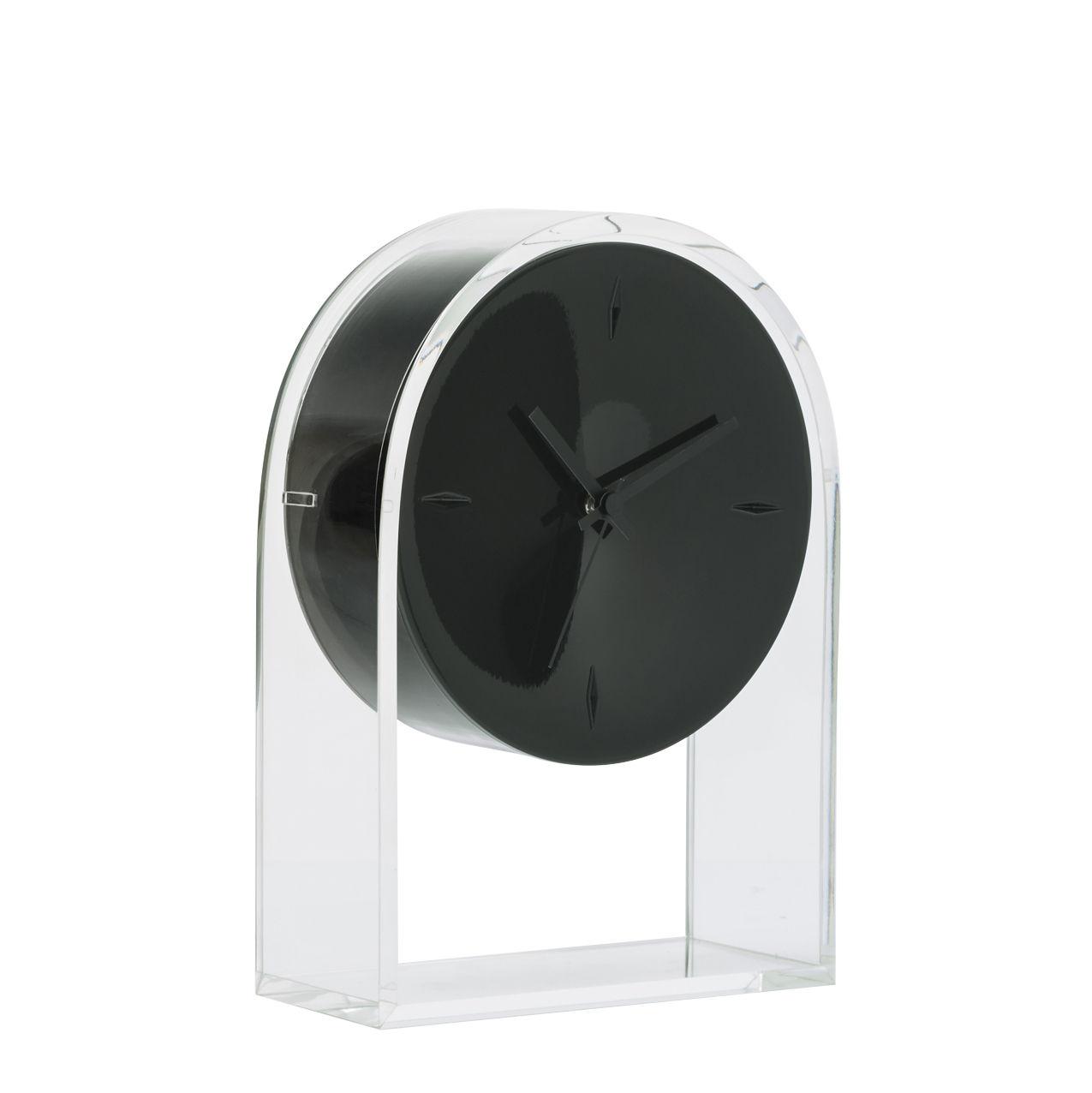 horloge poser l 39 air du temps h 30 cm noir cristal kartell. Black Bedroom Furniture Sets. Home Design Ideas