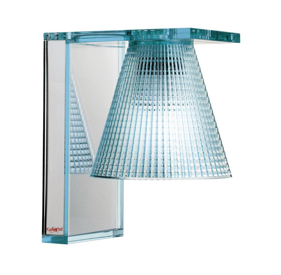 applique light air abat jour plastique sculpt bleu plaque murale miroir kartell. Black Bedroom Furniture Sets. Home Design Ideas