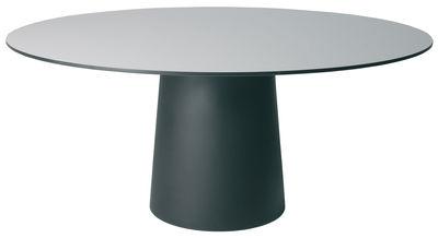 Plateau de table Container Ø 140 cm Moooi gris en matière plastique