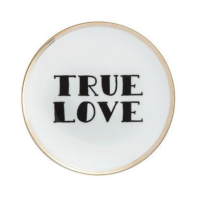 Assiette à dessert True love Ø 17 cm Bitossi Home blanc,noir,or en céramique