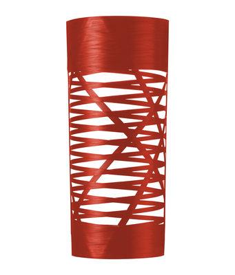Foto Applique Tress - A 59 cm di Foscarini - Rosso - Materiale plastico