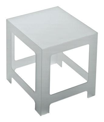Table basse Nezu H 50 cm - 45 x 45 cm - Glas Italia blanc,opalin en verre