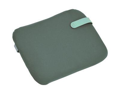 Galette Color Mix / Pour chaise Bistro - 38 x 30 cm - Fermob bleu lagune,vert safari en tissu