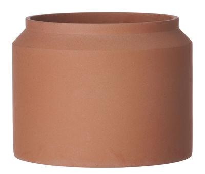 Jardin - Pots et plantes - Pot de fleurs Contenant Large / Béton - Ø 32 x H 25 cm - Ferm Living - Terracotta - Béton