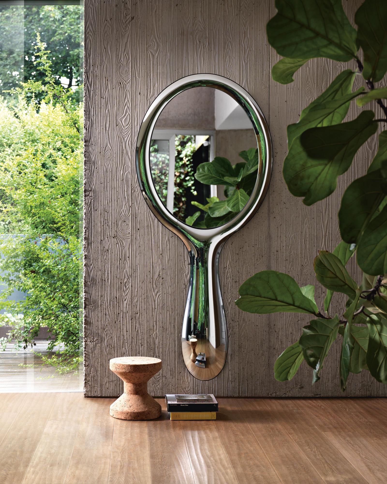 miroir mural lollipop l 90 x h 200 cm argent fiam. Black Bedroom Furniture Sets. Home Design Ideas