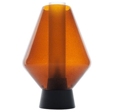 Luminaire - Lampes de table - Lampe de table Metal Glass 1 / Ø 28 x H 41 cm - Diesel with Foscarini - Ambre - Métal verni, Verre soufflé