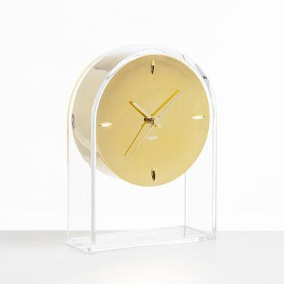 horloge poser l 39 air du temps h 30 cm or cristal kartell. Black Bedroom Furniture Sets. Home Design Ideas