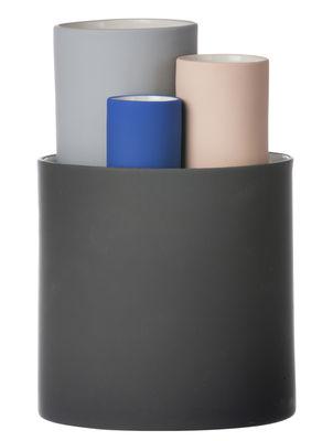 Déco - Vases - Vase Collect / Set de 4 vases - Ferm Living - Gris foncé, Gris clair, Bleu, Rose pâle - Céramique