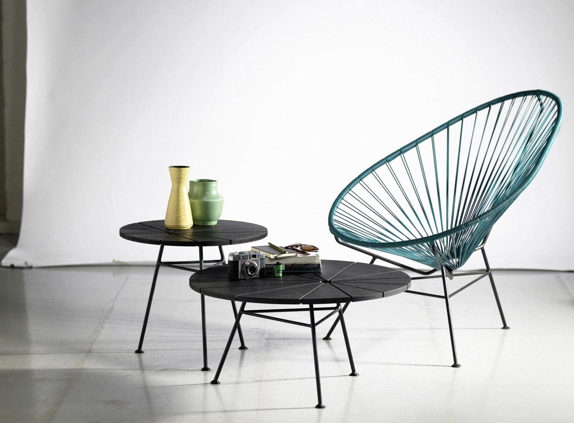 Bam bam coffee table 70 cm black by ok design pour for Table design 70
