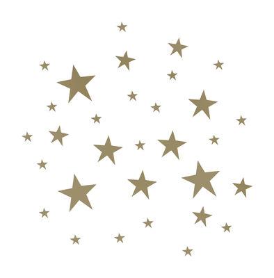 Decoration - Children's Home Accessories - Stars Sticker - Sticker by Ferm Living - Gold - Vinal