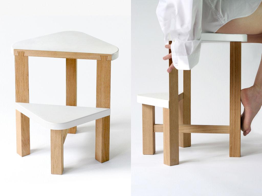 Scopri scala smarty sgabello comodino a 50 cm for Sgabello bianco legno