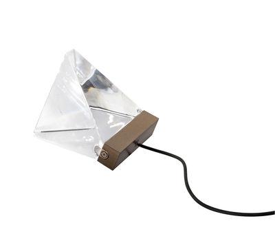 Lampe de table Tripla LED / Cristal - Fabbian bronze,transparent en verre
