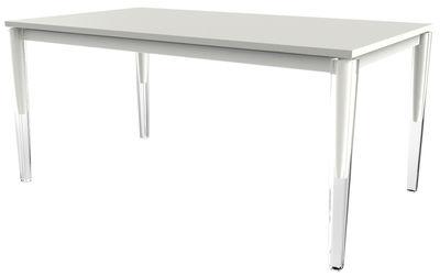 Tendances - Espace Repas - Table à rallonge Calippo / 160 à 220 cm - Magis - Blanc - Acier verni, MDF verni, PMMA