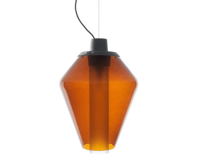 Metal glass 1 Pendelleuchte / Ø 28 cm x H 41 cm - Diesel with Foscarini - Amber