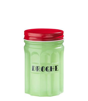 Boîte Droghe H 11 cm Porcelaine Bitossi Home rouge,vert en céramique