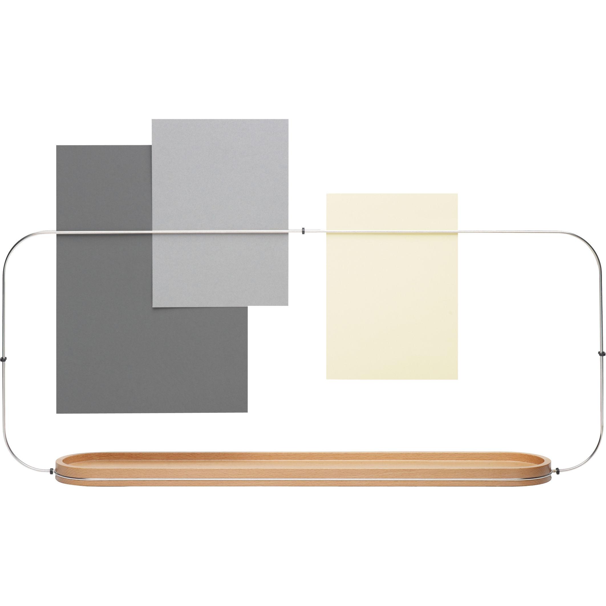 porte objets fierzo s parateur de bureau bois acier alessi. Black Bedroom Furniture Sets. Home Design Ideas
