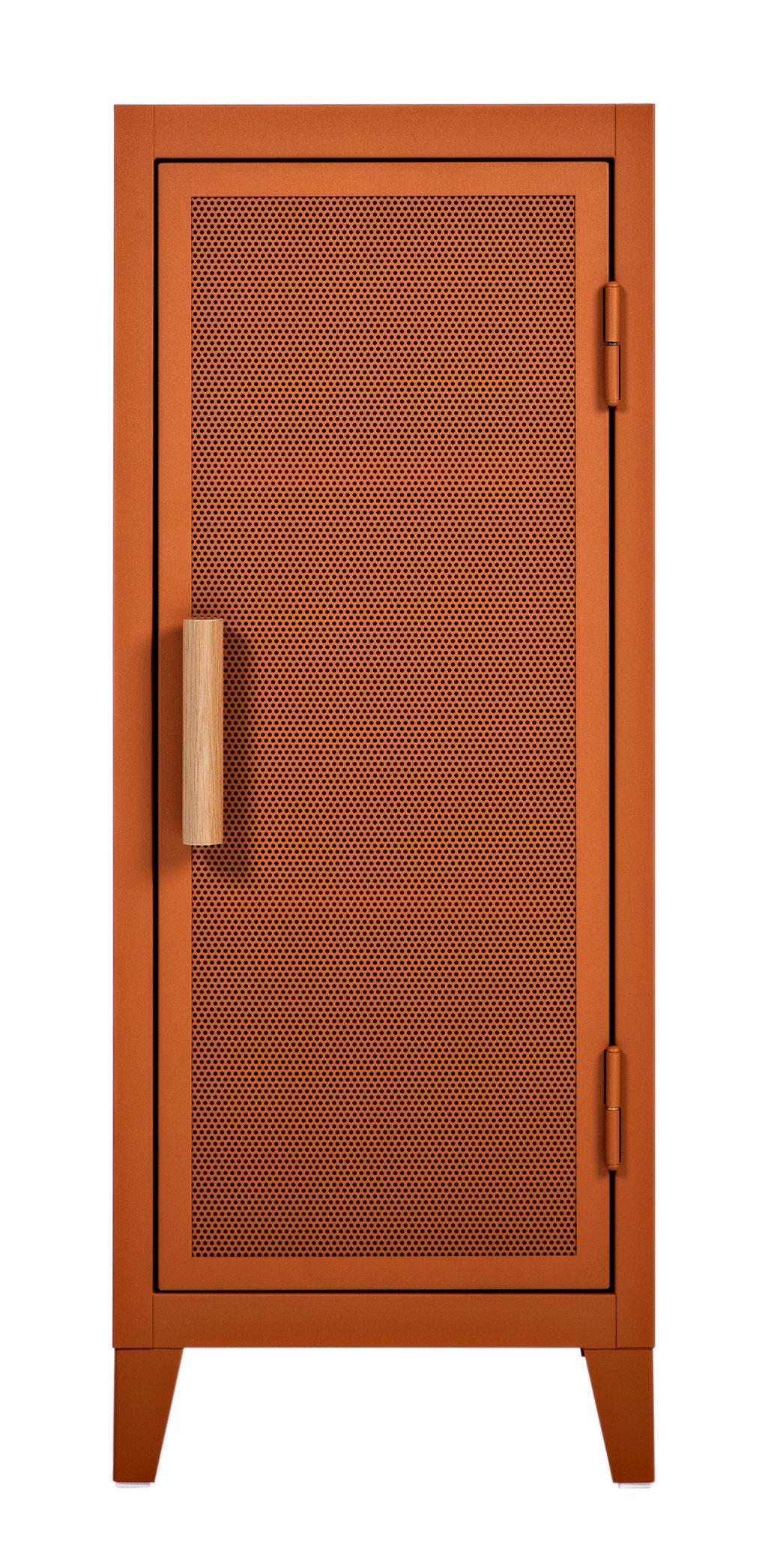 rangement vestiaire bas 1 porte acier perfor bois terracotta poign es ch ne tolix. Black Bedroom Furniture Sets. Home Design Ideas