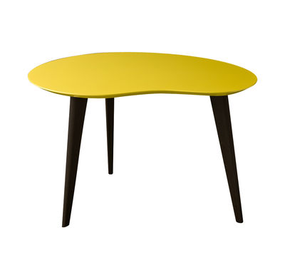 table basse lalinde small haricot l 63cm pieds noirs jaune pieds noirs sentou edition. Black Bedroom Furniture Sets. Home Design Ideas