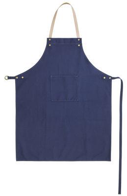 Déco - Textile - Tablier / Attache cuir - Ferm Living - Bleu jean - Coton, Cuir