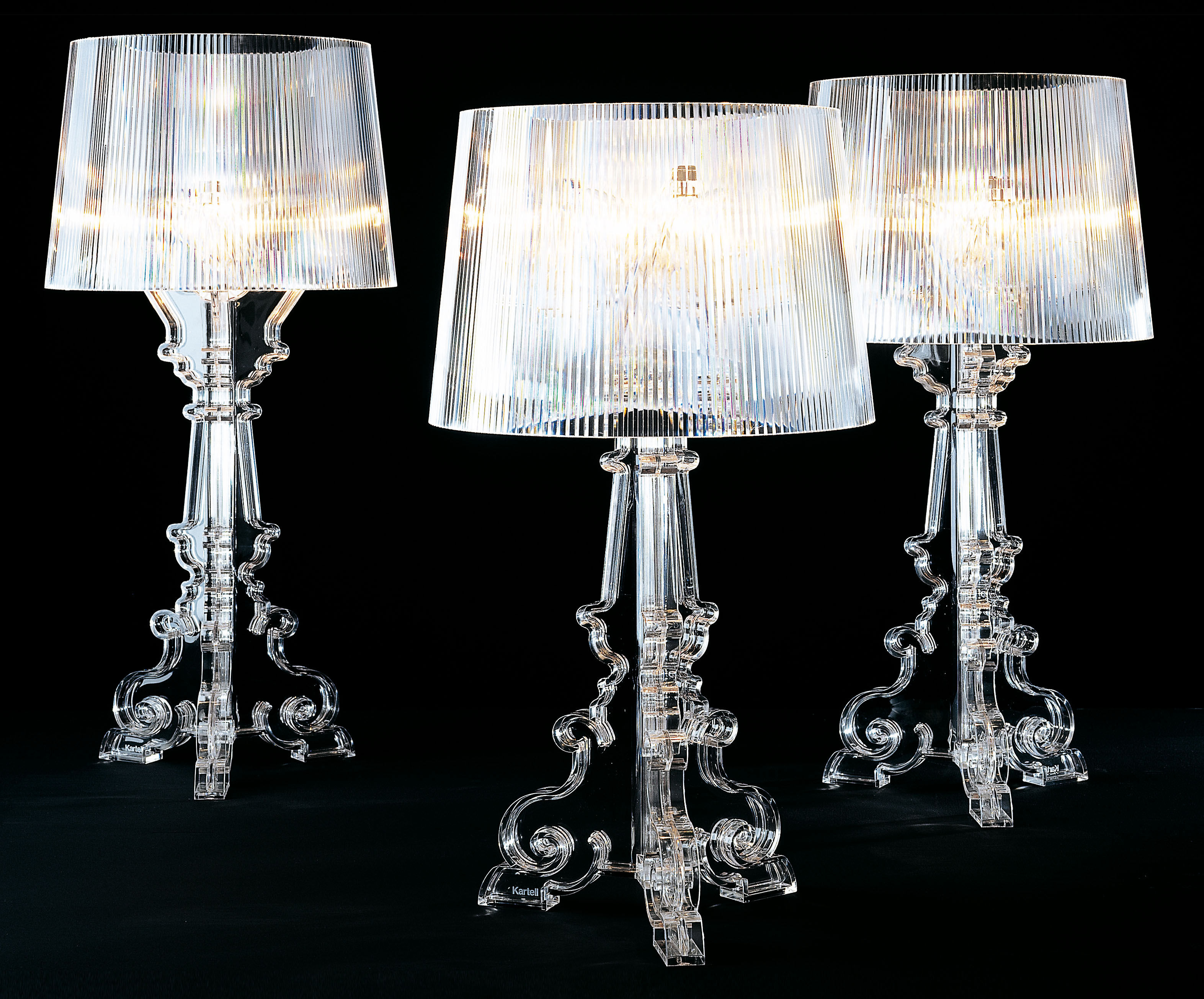 bourgie table lamp h 68 to 78 cm crystal by kartell. Black Bedroom Furniture Sets. Home Design Ideas