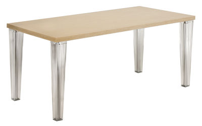 Top Top Tisch 190 cm - Tischplatte Eiche - Kartell - Traubeneiche gebleicht