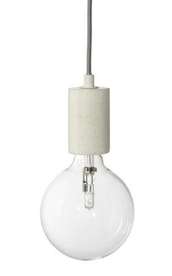 Luminaire - Suspensions - Suspension Bristol / Marbre - Frandsen - Marbre blanc / Câble gris - Marbre, Tissu